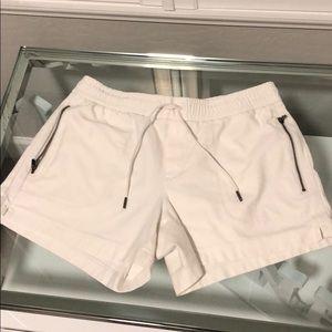 Athleta off white size 6 cottons shorts